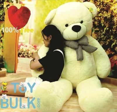 7 Feet Teddy Bear Large Real Giant  Very Soft Lovable/Hug-Gable Teddy Bears  Girlfriends/Birthday, Wedding Gift (White)