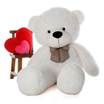 4 Feet Teddy Bear Large Very Soft Lovable/Hug-Gable Soft Toys 48 inch Girlfriends/Birthday, Wedding Gift (white)