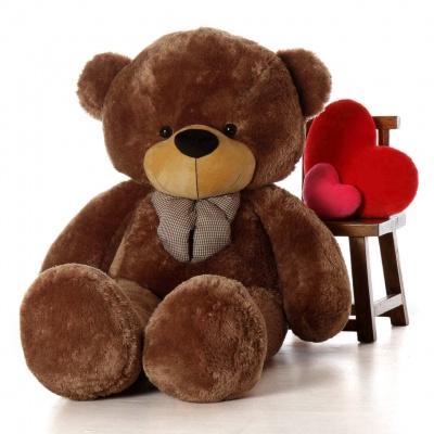 4 Feet Teddy Bear Large Very Soft Lovable/Hug-Gable Soft Toys 48 inch Girlfriends/Birthday, Wedding Gift (Chocolate Brown)