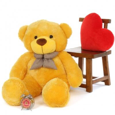 4 Feet Teddy Bear Large Very Soft Lovable/Hug-Gable Soft Toys 48 inch Girlfriends/Birthday, Wedding Gift (Yellow)