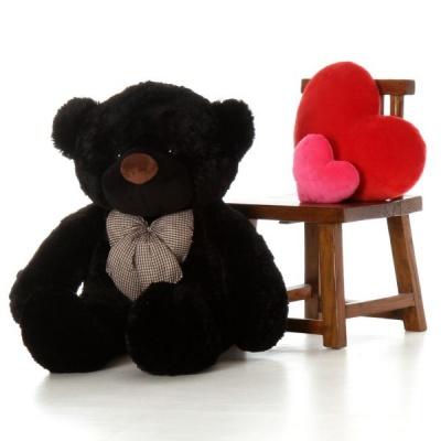 4 Feet Teddy Bear Large Very Soft Lovable/Hug-Gable Soft Toys 48 inch Girlfriends/Birthday, Wedding Gift (Black)