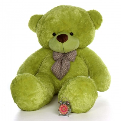 5 Feet Teddy Bear Large Very Soft Lovable/Hug-Gable 60 inches Teddy Bears Girlfriend/Birthday, Wedding Gift (Green)