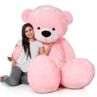 ToYBULK Real Giant 6 Feet Large Very Soft Lovable/Hug-Gable Teddy Bears 72 inch Girlfriends/Birthday, Wedding Gift (Pink)