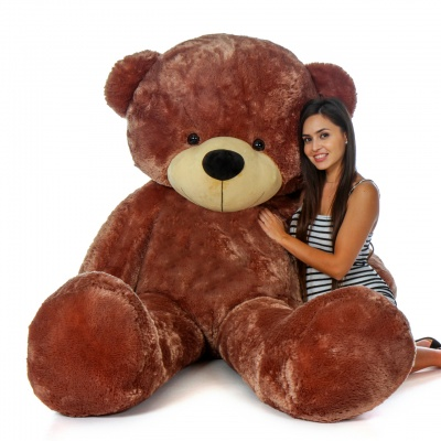 ToYBULK Real Giant 6 Feet Large Very Soft Lovable/Hug-Gable Teddy Bears 72 inch Girlfriends/Birthday, Wedding Gift (Chocolate Brown)
