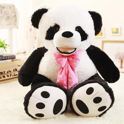 4 Feet Panda Bear, 48 inchs Tall Smile Panda Bears (Black and White)