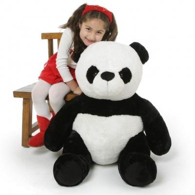 3 Feet Panda Bear, 36 inch Tall Sitting Panda Bears  (Black and White)
