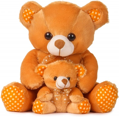 1.5 Feet Mother And Baby Teddy Bear Brown Colour