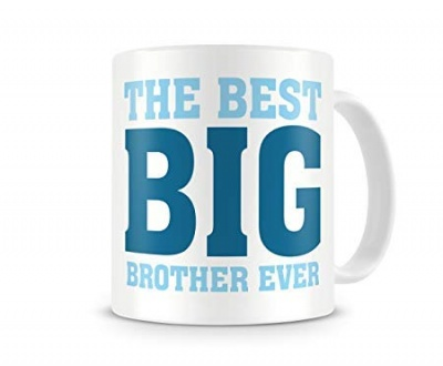 Beautiful White The Best Big Brother Ever Coffee Mug Gift for Raksha Bandhan