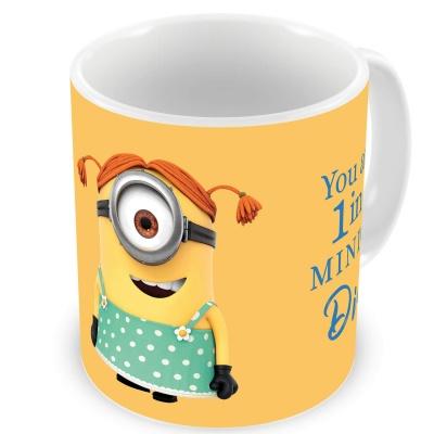 You are 1 in A Minion Didi Female Minion Design Beautiful Design Printed Multicolor Ceramic Coffee Mug - 325 ml