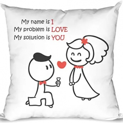 I Love You Proposal Quote Printed Valentine Gifts for Girlfriend Love Quote Cushion Cover 12