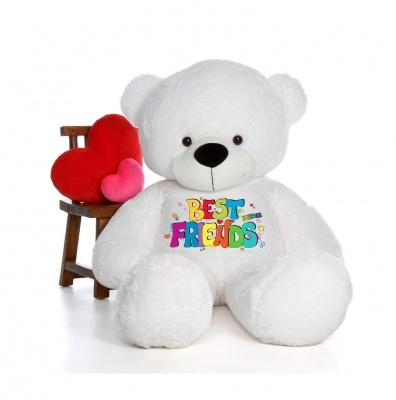 3 Feet Big White Teddy Bear Wearing Best Friend T-Shirt 36 Inch T-shirt Teddy You're Personalized Message Teddy Bears