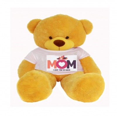 3 Feet Big Yellow Teddy Bear Wearing Love MOM T-Shirt 36 Inch T-shirt Teddy You're Personalized Message Teddy Bears