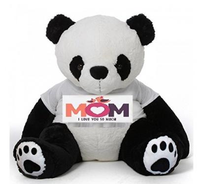 5 Feet Big Panda Bear Wearing Love MOM T-Shirt, 60 Inch T-shirt Panda, You're Personalized Message Panda Bear