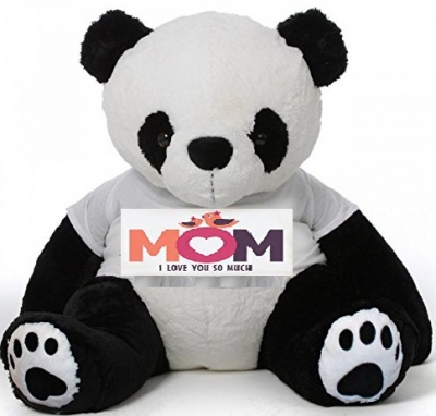 6 Feet Big Panda Bear Wearing Love MOM T-Shirt 72 Inch T-shirt Panda, You're Personalized Message Panda Bears