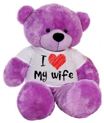 6 Feet Big Purple Teddy Bear Wearing Love Wife T-Shirt 72 Inch T-shirt Teddy You're Personalized Message Teddy Bears