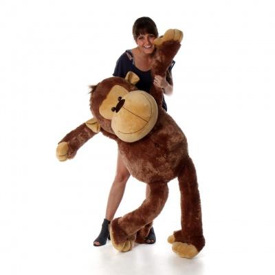 4 Feet Monkey Bear, 48 Inch Tall Smile Monkey Bears (Brown Monkey)
