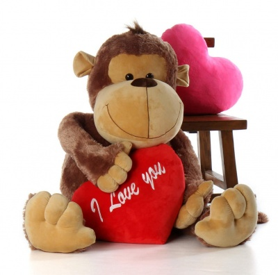 6 Feet Monkey Bear, 72 Inch Tall Smile Monkey Bears (Brown Monkey)