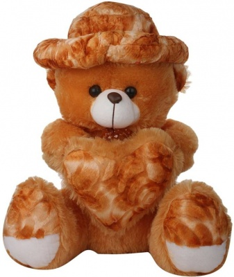 ToYBULK Soft Teddy Bear Size –3 Feet with Cap Color Brown and Beige Very Soft Toys