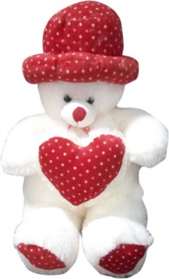 ToYBULK Soft Teddy Bear Size –3 Feet with Cap Color Red and White Very Soft Toys