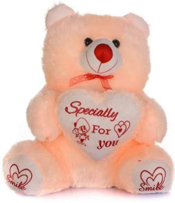 Brown Heart Teddy Bear Soft Toy- 30 cm, Cream Teddy Bears