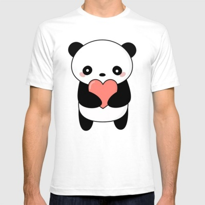 Men's & Women's Cotton Printed Regular Fit T-Shirts (Pack of 2) - Panda T shirts