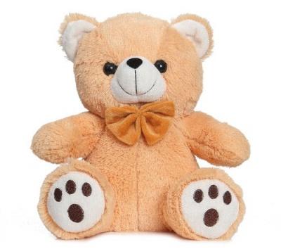 Brown Teddy Bear Soft Toy- 25 cm, Bow Teddy Bears