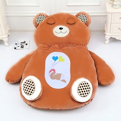 BROWN BIG TEDDY CARTOON BED (COVER)