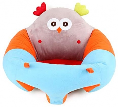 Baby Sitting Chair, Infant Support Seat Plush Soft Animal Shaped Portable Baby Sofa Comfortable for Newborn 3-16 Months (Owl)
