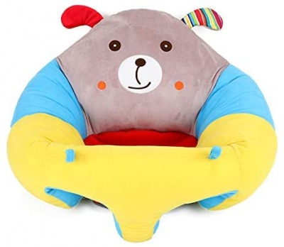 Baby Sitting Chair, Infant Support Seat Plush Soft Animal Shaped Portable Baby Sofa Comfortable for Newborn 3-16 Months (Puppy)
