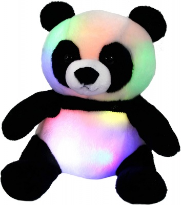 LED Panda Stuffed Animal Glow Soft Plush Toys Light up in Dark Bedtime Companion Birthday Gift for Kids on Christmas Festival Occasions, 11.5 inch