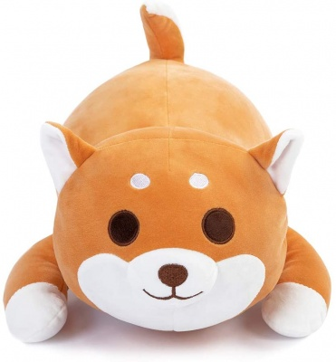 Soft Shiba Stuffed Animal Plush Dog Doll Toy Gift for Kids and Friends (Brown 20 inch)