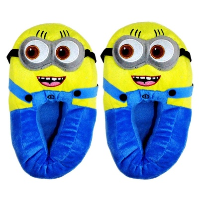 Classic Minion Slippers for Women Funny Animal Slippers for Girls Cute Plush Minion Slippers Christmas Slippers for Women and Kids