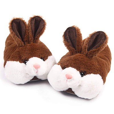 Classic Bunny Slippers for Women Funny Animal Slippers for Girls Cute Plush Rabbit Slippers Christmas Slippers for Women and Kids