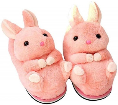 Womens Cute Animal Slippers Novelty Cozy Fuzzy Slippers Soft Plush Winter Warm House Shoes