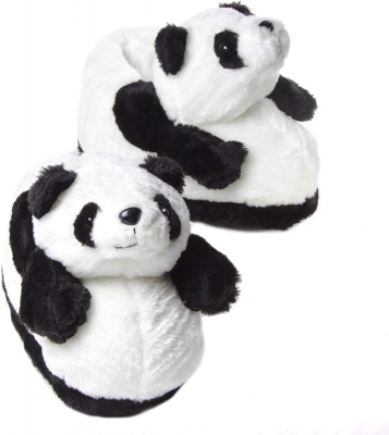 Womens Cute Pandas Animal Slippers Novelty Cozy Fuzzy Slippers Soft Plush Winter Warm House Shoes