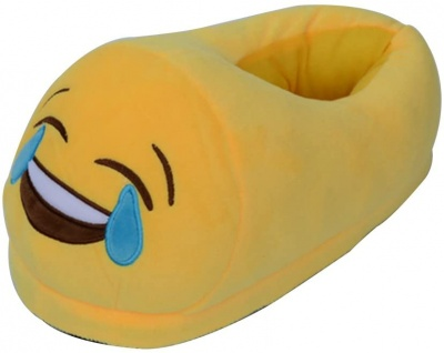 Man/Women/Kid Unisex Emoji Soft Cute Cartoon Slippers Warm Cozy Soft Stuffed Plush Household Indoor Home Household babouche (Cry)