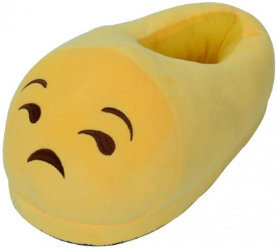 Man/Women/Kid Unisex Emoji Soft Cute Cartoon Slippers Warm Cozy Soft Stuffed Plush Household Indoor Home Household babouche (Depressed)