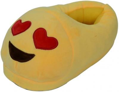 Man/Women/Kid Unisex Emoji Soft Cute Cartoon Slippers Warm Cozy Soft Stuffed Plush Household Indoor Home Household babouche (Love)
