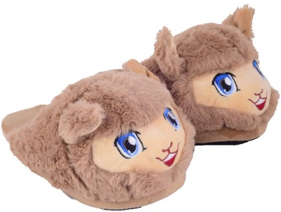 Womens Cute Cartoon Animal Slippers Novelty Cozy Fuzzy Slippers Soft Plush Winter Warm House Shoes