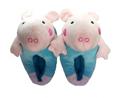 Womens Cute peppa pig Animal Slippers Novelty Cozy Fuzzy Slippers Soft Plush Winter Warm House Shoes