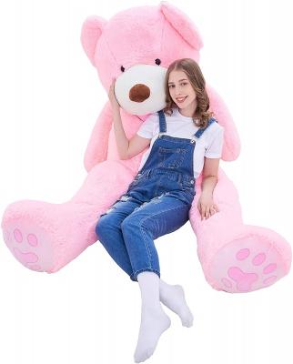 5 Feet Giant Teddy Bear Plush Toy Stuffed Animals (Pink, 60 inches)