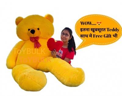 7 Feet Teddy Bear Large Real Giant  Very Soft Lovable/Hug-Gable Teddy Bears  Girlfriends/Birthday, Wedding Gift (Yellow)