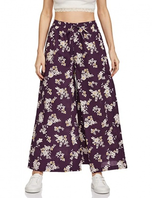 Women's Stretchy Malia Lycra Wide Leg Palazzo Pants Pack of 2 (Free Size)